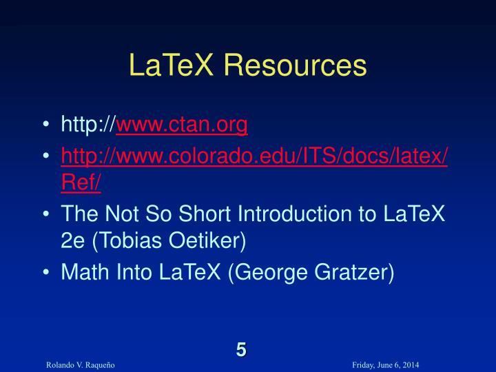 LaTeX Resources