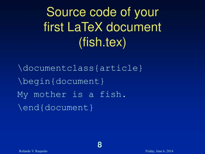 Source code of your