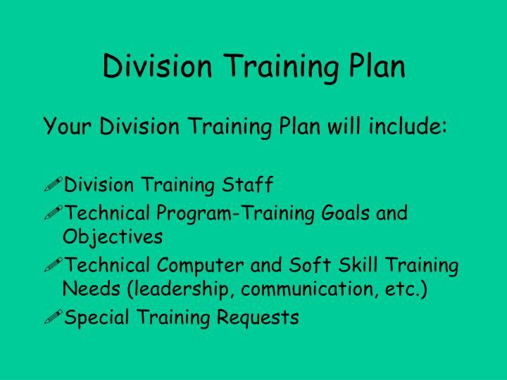 Division Training Plan