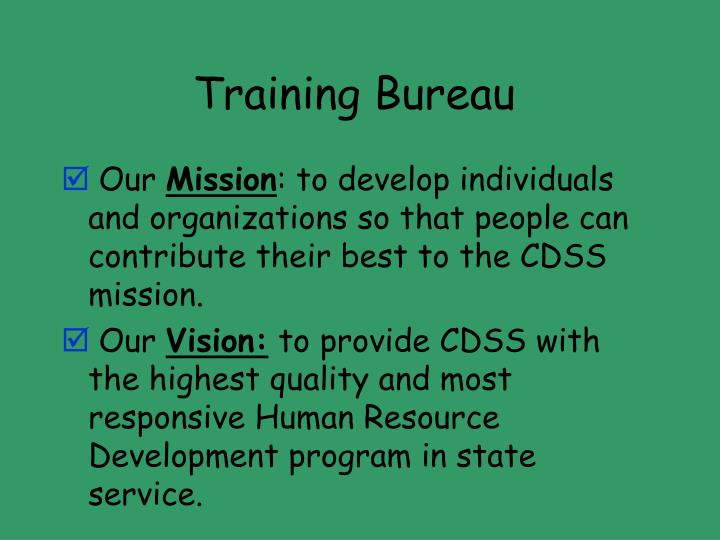 Training Bureau