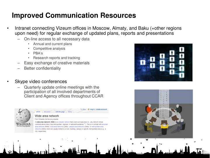 Improved Communication Resources