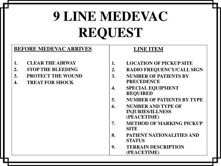 9 line medevac request