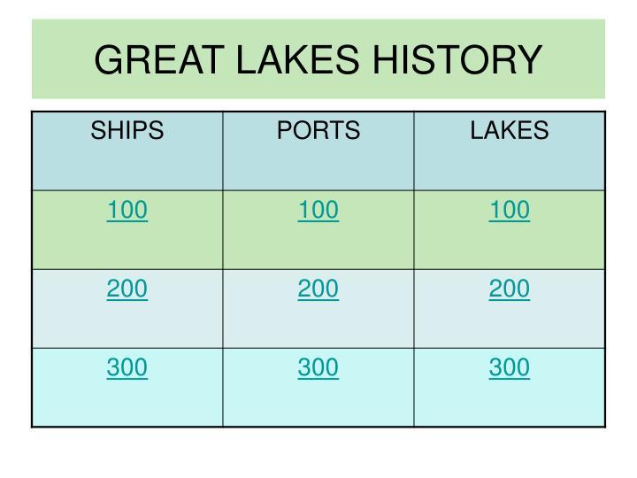 Great lakes history