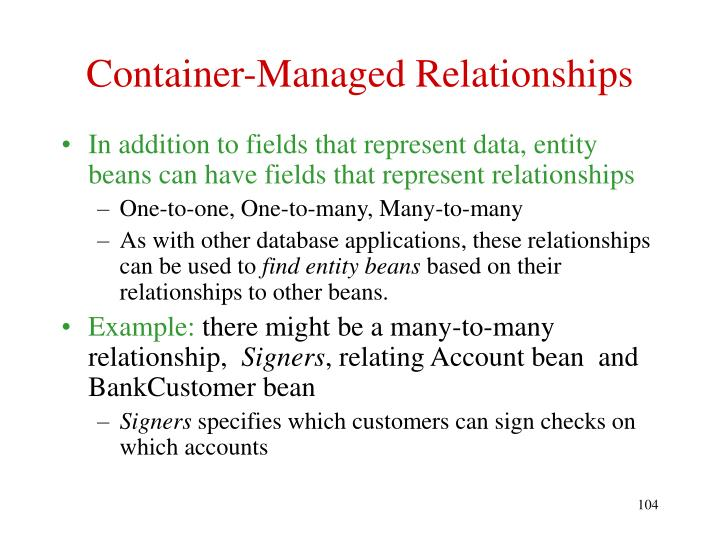 Container-Managed Relationships