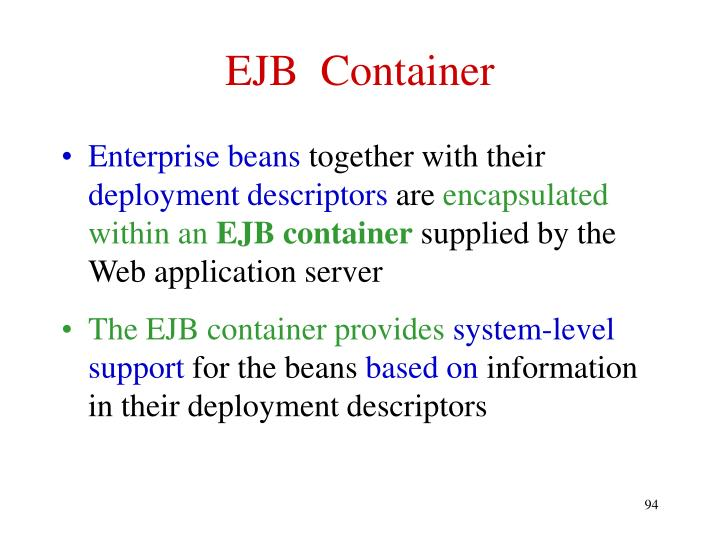 EJB  Container