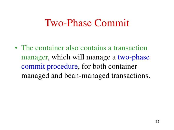 Two-Phase Commit