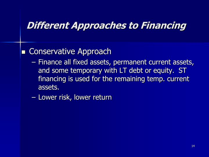 Different Approaches to Financing