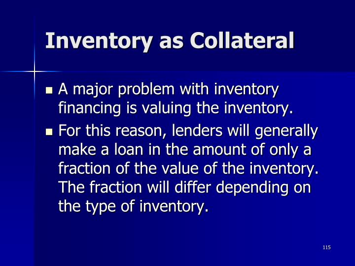 Inventory as Collateral