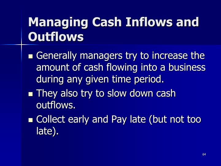 Managing Cash Inflows and Outflows