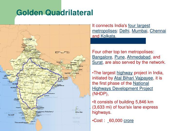 Golden Quadrilateral