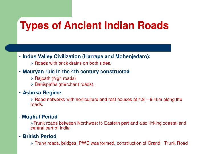 Types of Ancient Indian Roads