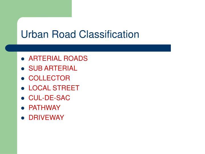 Urban Road Classification