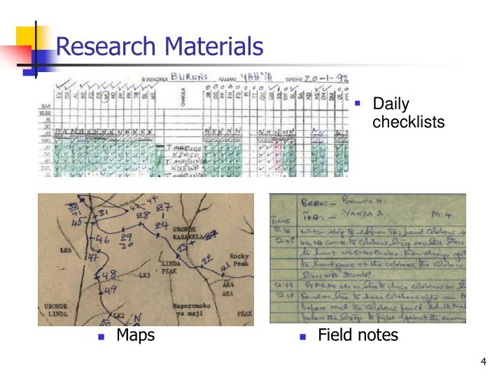 Research Materials