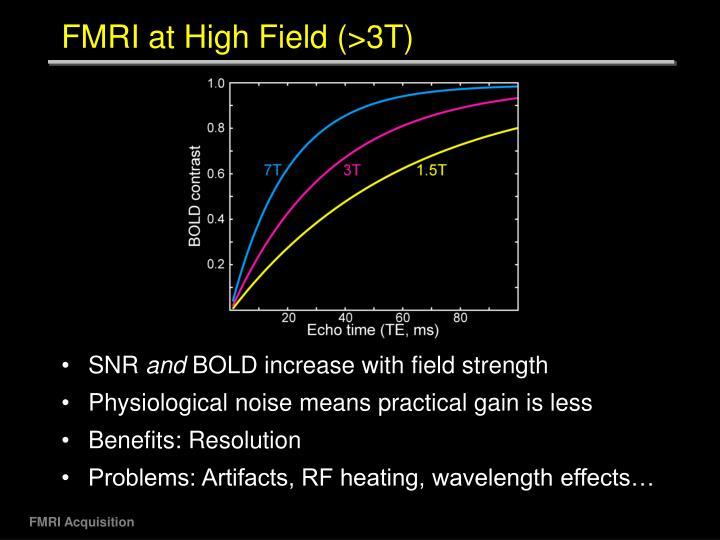 FMRI at High Field (>3T)