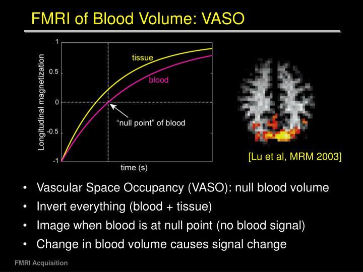 FMRI of Blood Volume: VASO