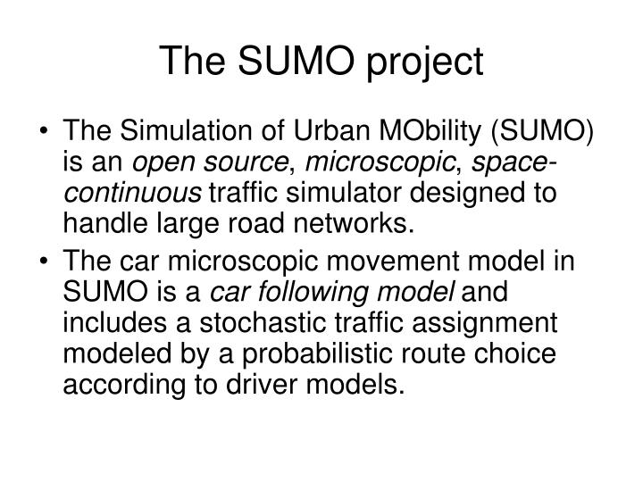 The SUMO project