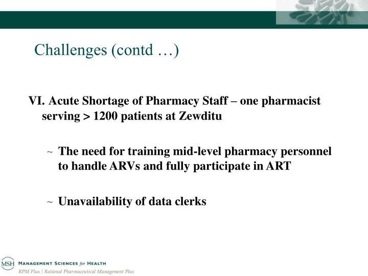 Challenges (contd …)