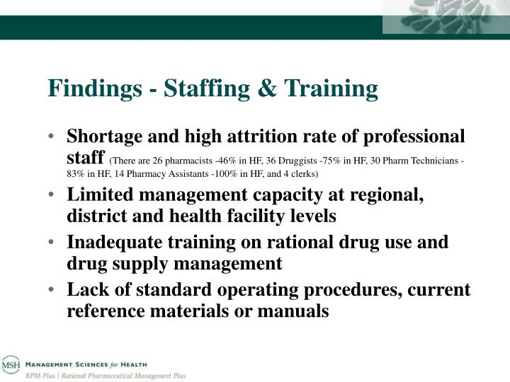 Findings - Staffing & Training