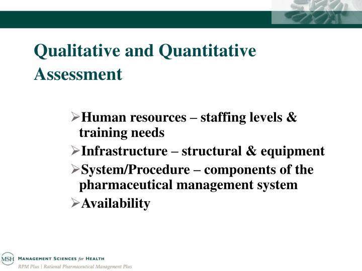 Qualitative and quantitative assessment