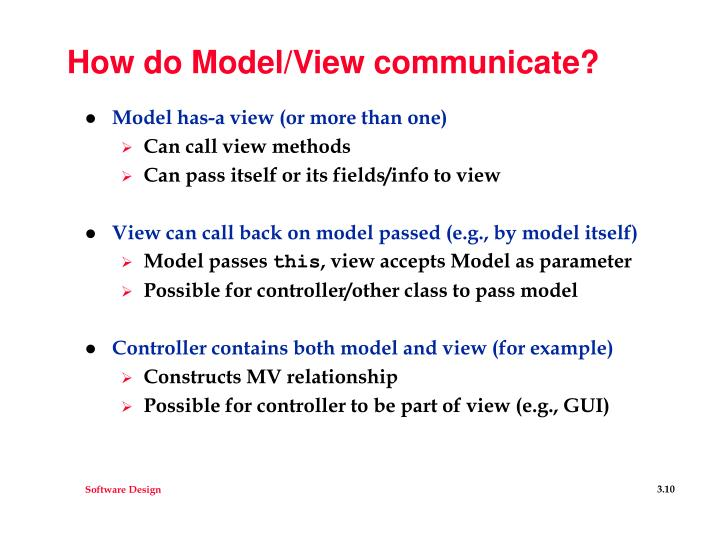 How do Model/View communicate?