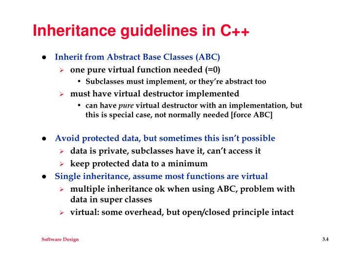 Inheritance guidelines in C++
