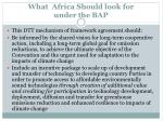 what africa should look for under the bap1
