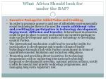 what africa should look for under the bap7