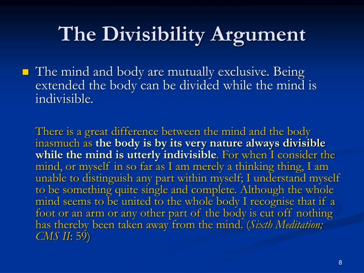 The Divisibility Argument