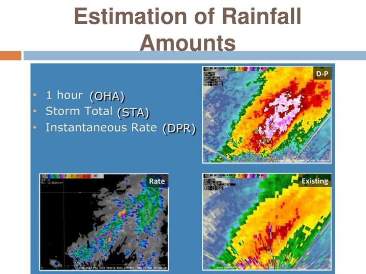 Estimation of Rainfall Amounts