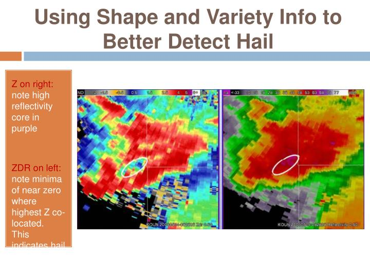 Using Shape and Variety Info to Better Detect Hail