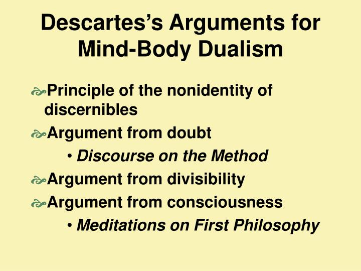 socrates and descartes arguments about dualism