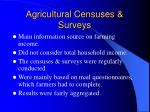agricultural censuses surveys