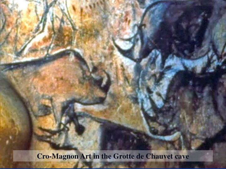 Cro-Magnon Art in the Grotte de Chauvet cave