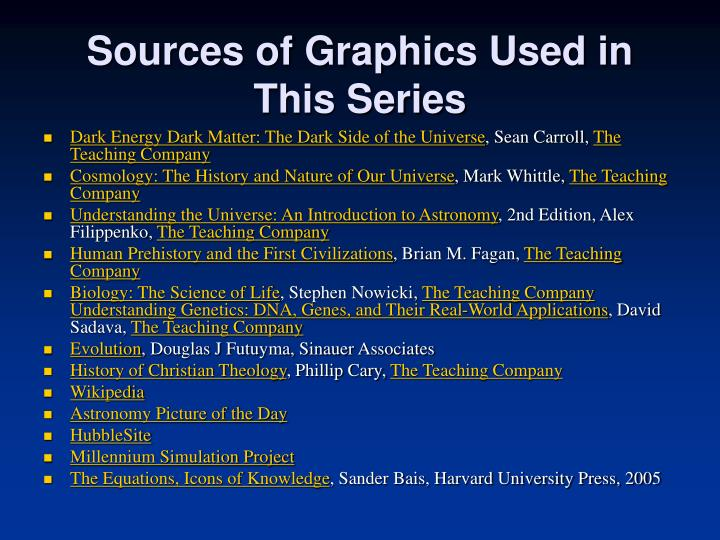 Sources of Graphics Used in This Series