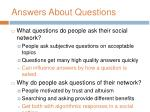 answers about questions