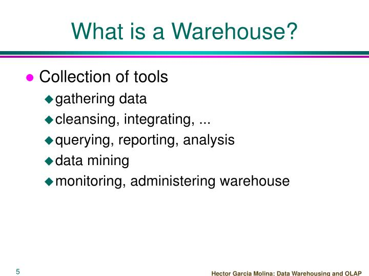 What is a Warehouse?