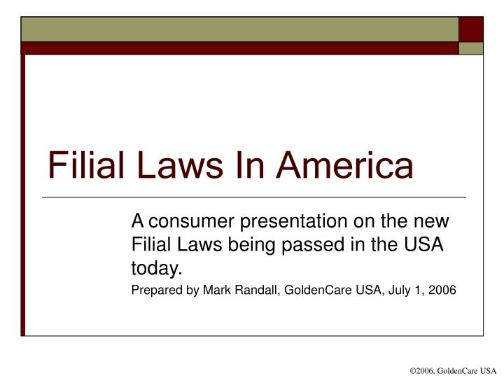 filial laws in america n.