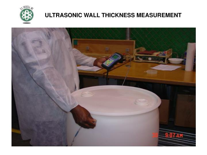ULTRASONIC WALL THICKNESS MEASUREMENT