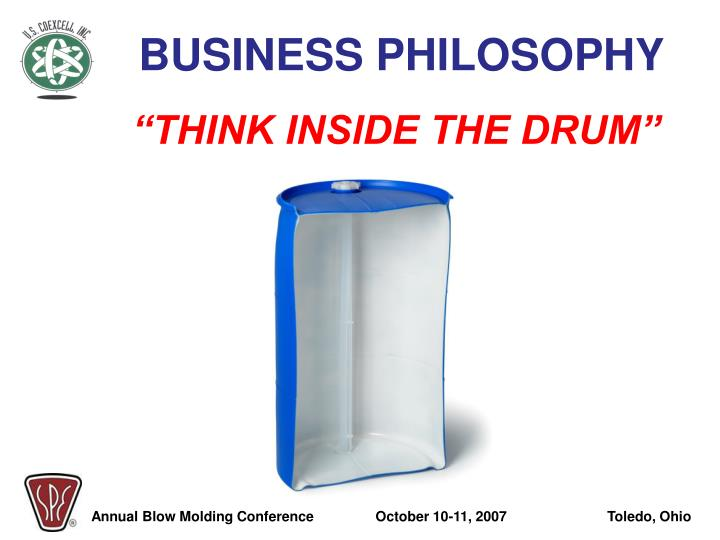 """""""THINK INSIDE THE DRUM"""""""