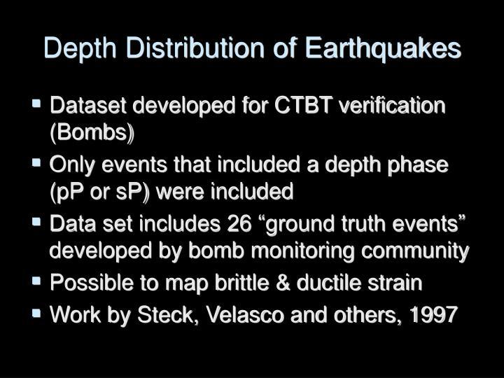 Depth Distribution of Earthquakes