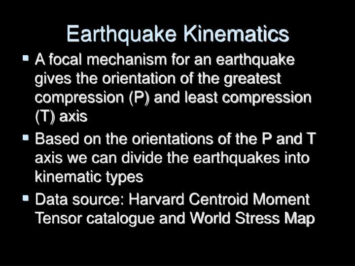 Earthquake Kinematics