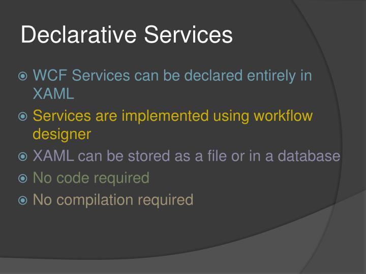 Declarative Services
