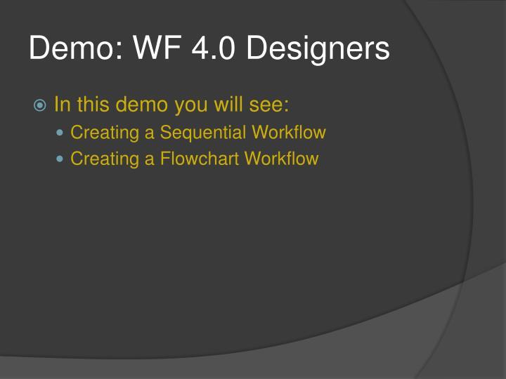 Demo: WF 4.0 Designers