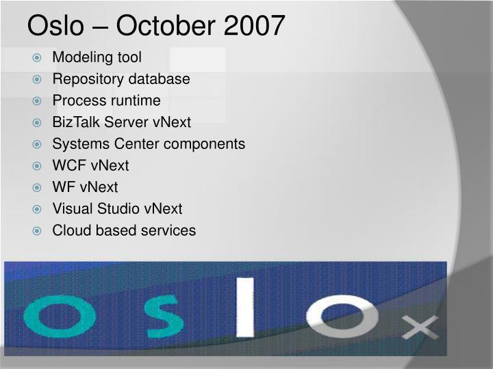 Oslo – October 2007