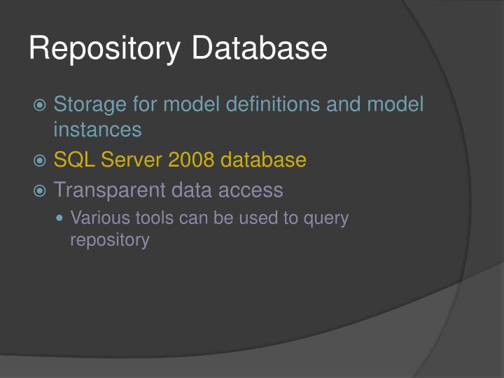 Repository Database