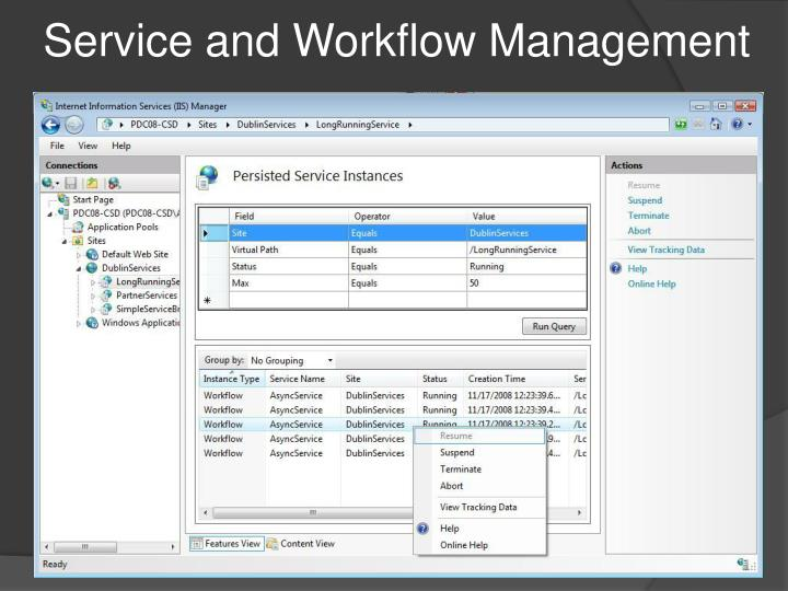 Service and Workflow Management