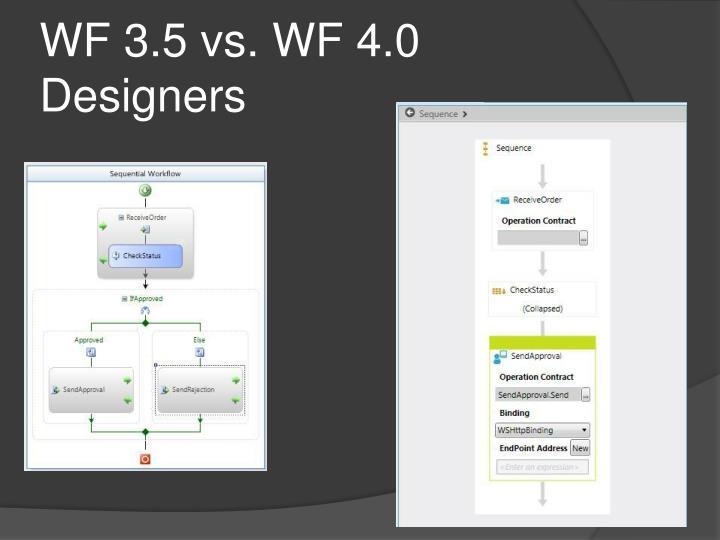 WF 3.5 vs. WF 4.0 Designers