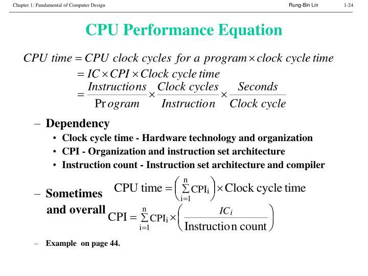 CPU Performance Equation