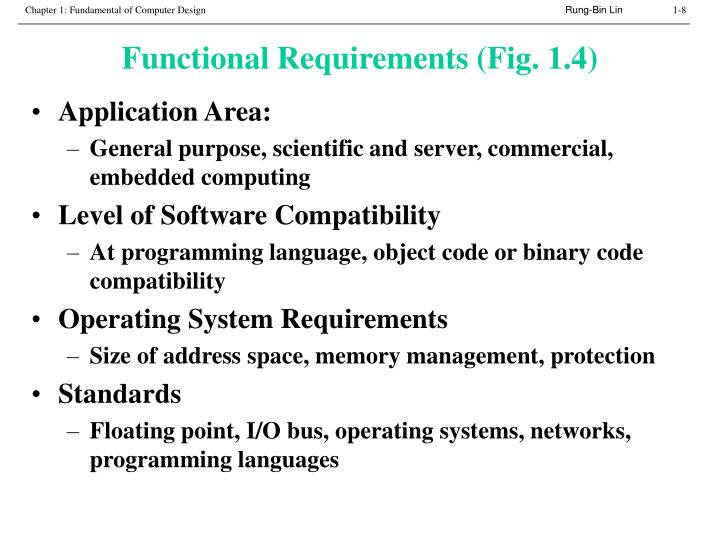 Functional Requirements (Fig. 1.4)
