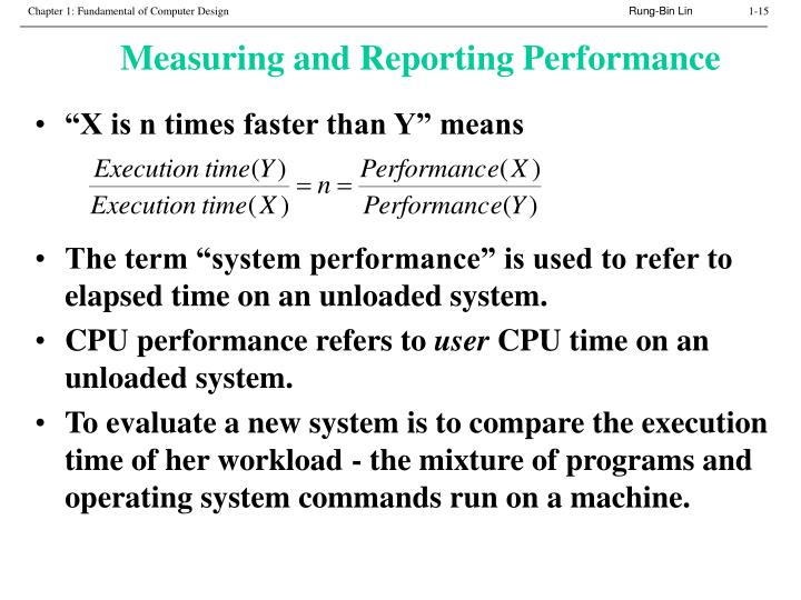Measuring and Reporting Performance